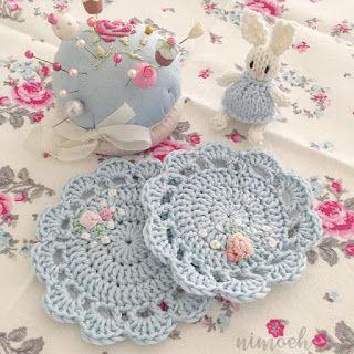nimoeh: Anleitung Untersetzer häkeln #crochetedearrings