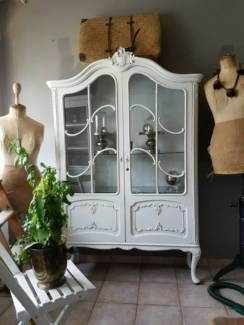 shabby vintage vitrine landhaus chippendale alt impressionen in niedersachsen bovenden. Black Bedroom Furniture Sets. Home Design Ideas