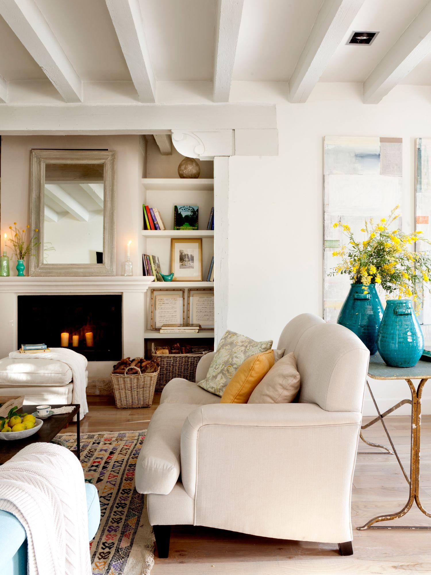 15 salones con chimenea para el invierno   Salón   Pinterest ...