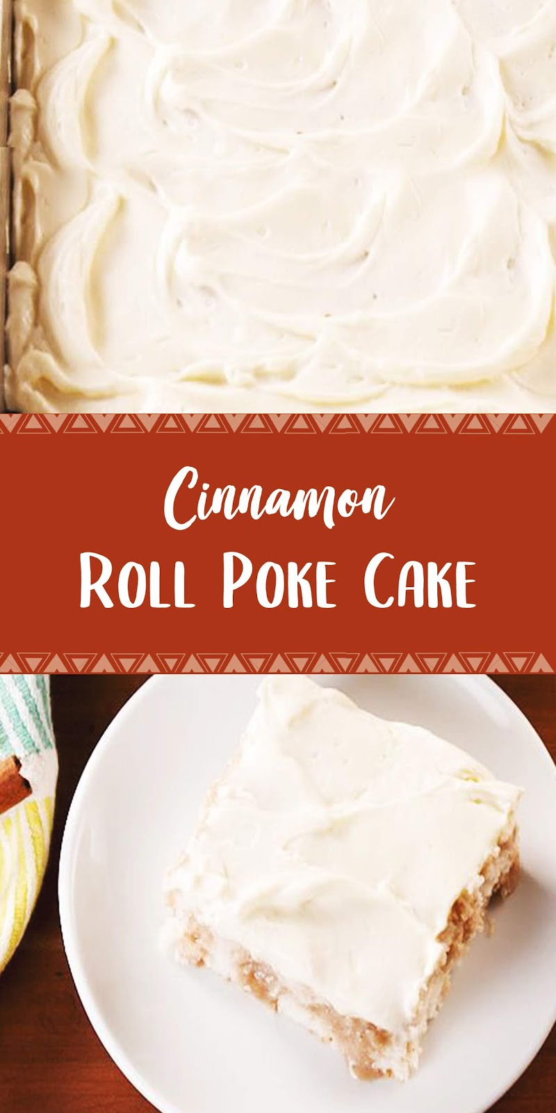Cinnamon Roll Poke Cake | Healthy Recipes #cinnamonrollpokecake