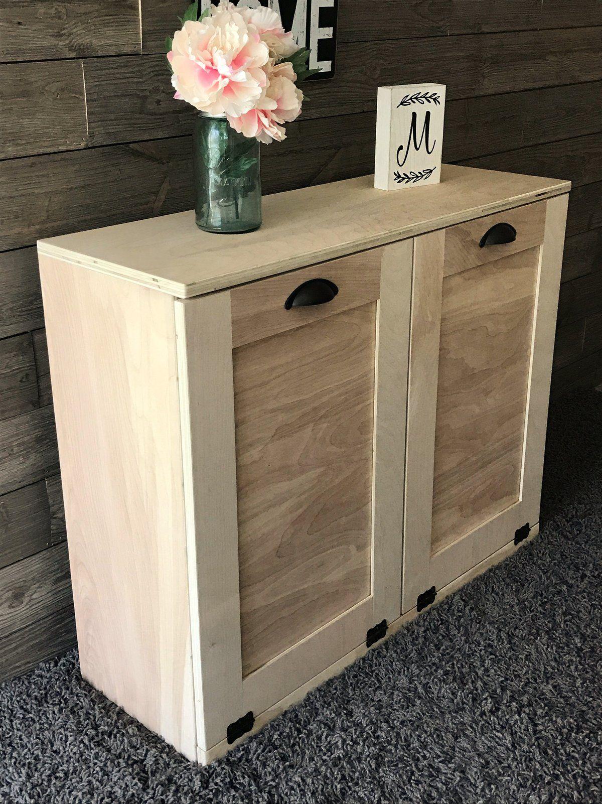 tilt out trash double bin unfinished DIY (D-RAW) | Easy ...