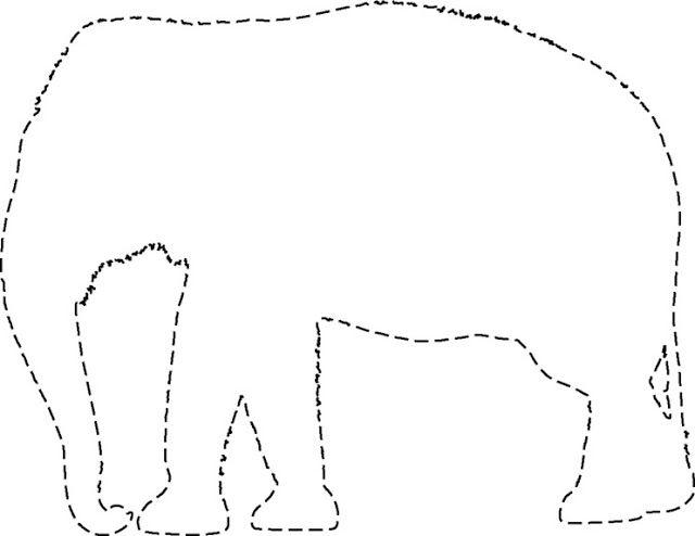 siluetas de elefantes para imprimir | Silueta elefante para recortar ...