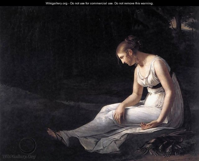 """Ania [Algea - spirit of pain and suffering] """"ache, anguish"""" {Melancholy 1801 - Constance Marie Charpentier}"""