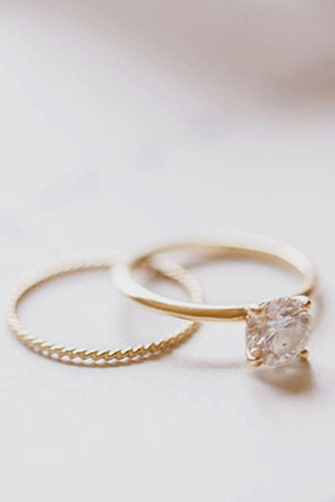 Simple Gold Wedding Rings For Women Addicfashion