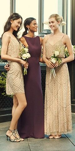 Adrianna Papell Art Deco Dress and Beaded Blouson Gown