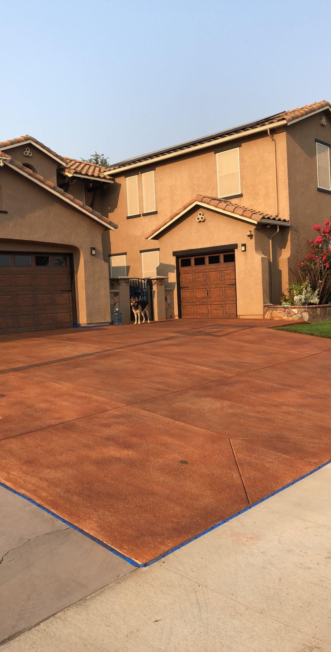 Ngo\'s new concrete coloring (copper canyon/cinnamon stone ...