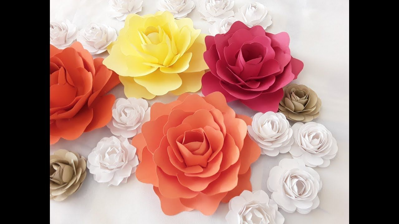 Diy Small Paper Flower Tutorial Paper Flower Tutorial Templates Free Paper Flower Templates Paper Flower Video