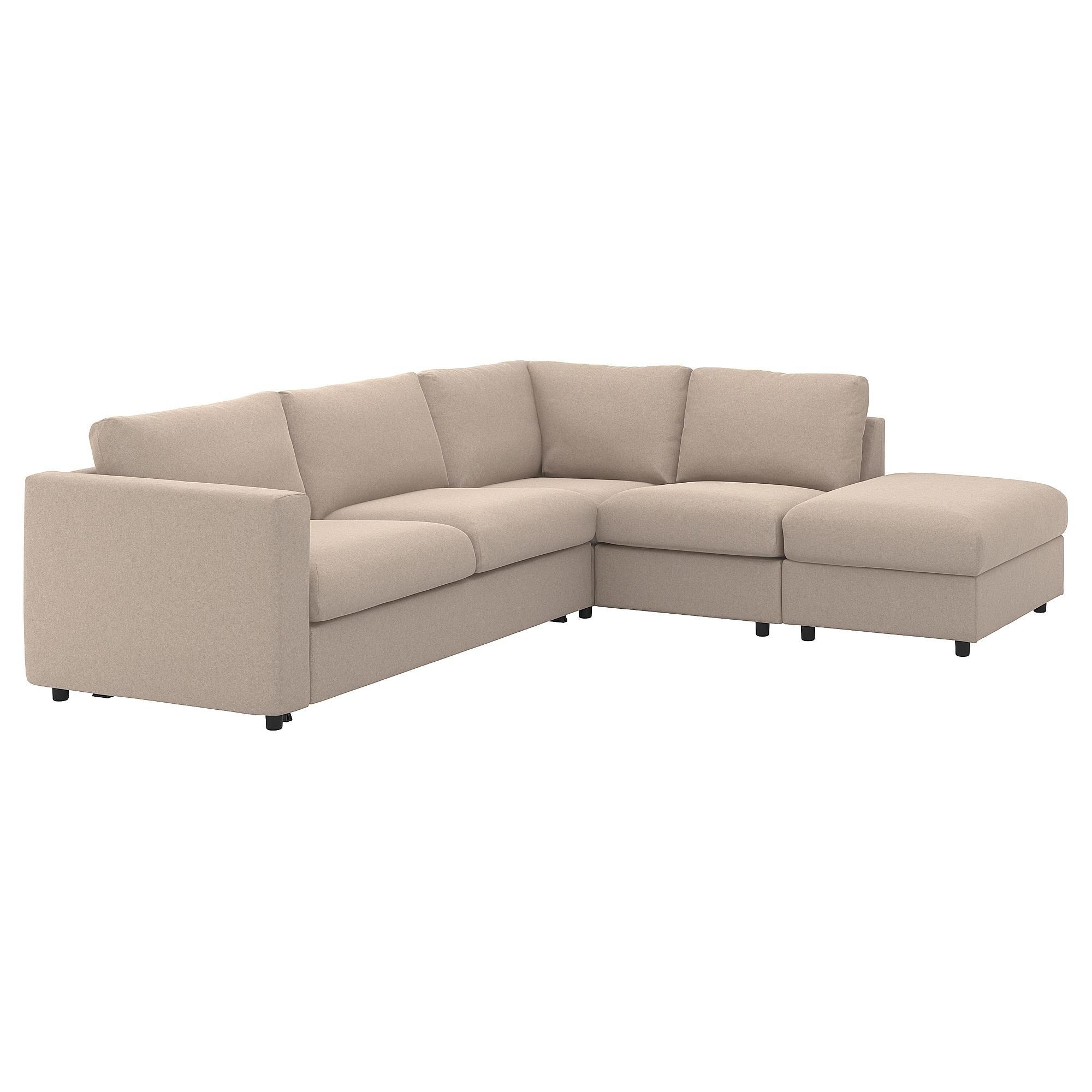 IKEA - VIMLE Cover f/corner sleeper sofa, 4-seat with open ...