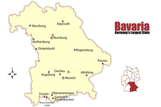explore bavaria germanys second largest state bavaria map
