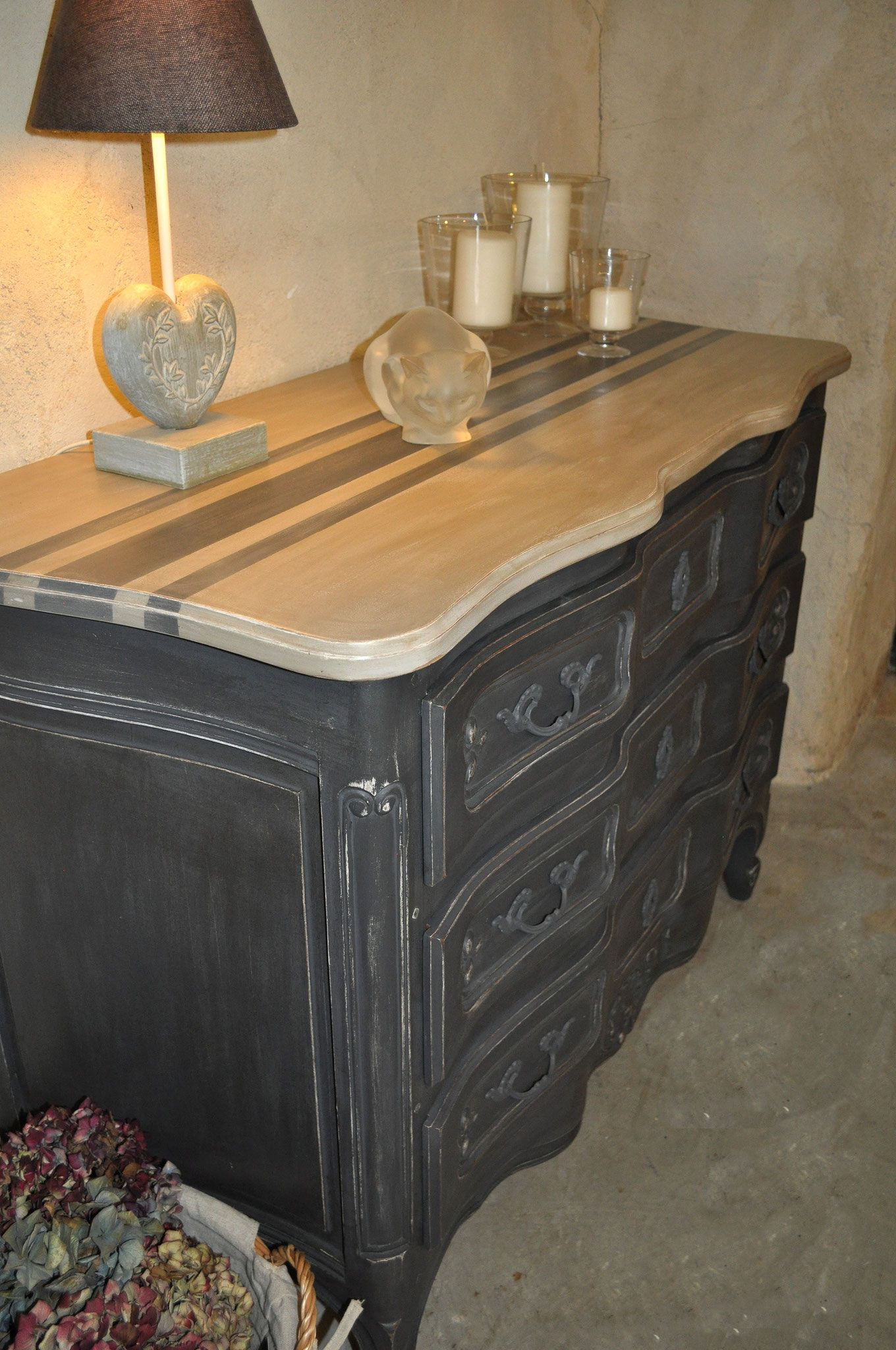 Commode Meuble Tv Commode A Arbalete En Merisier Massif De Style Louis Xv