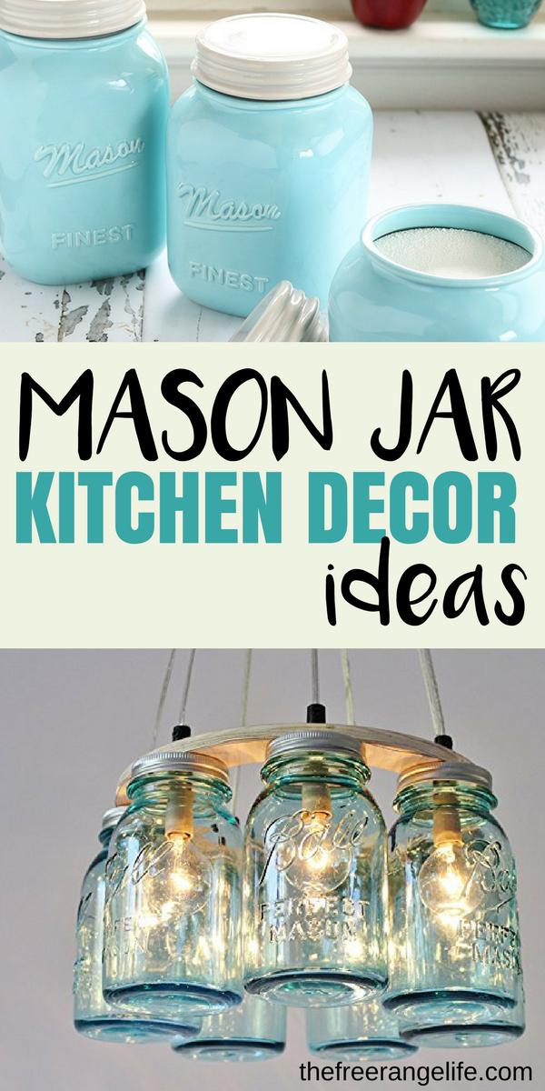mason jar kitchen decor Mason Jar Kitchen Decor Ideas | Mason jar kitchen decor, Mason jar  mason jar kitchen decor