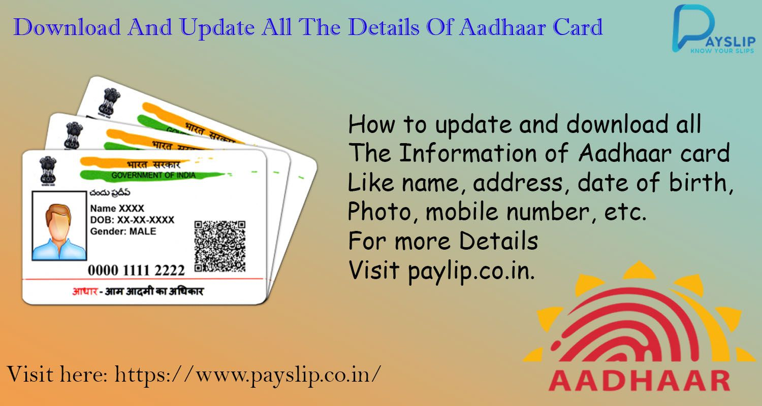 How To Changes In Your Aadhaar Card How To Apply Cards Aadhar Card