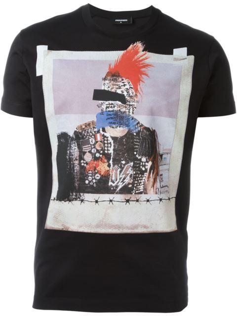 Dsquared2 photo print T-shirt
