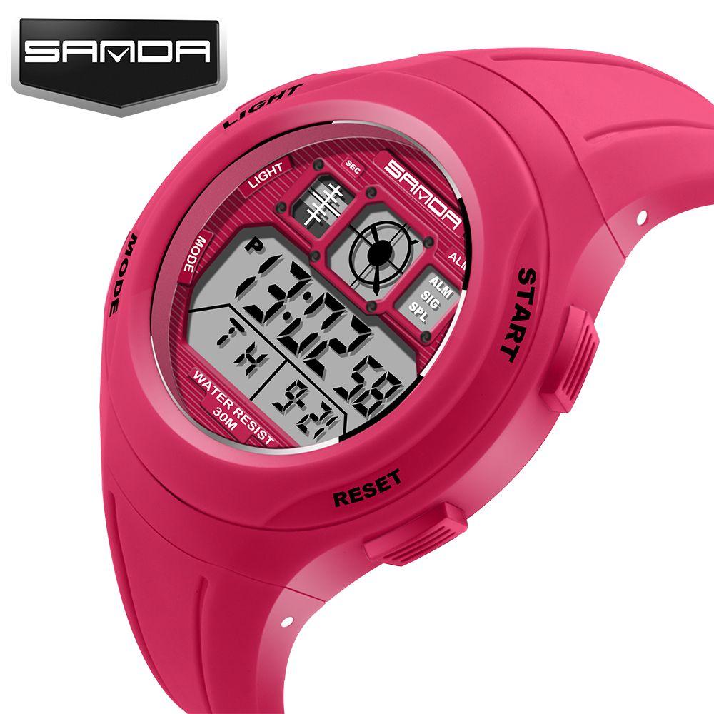 aa0ade656f7 SANDA Brand Children Sports Watches Kids Watches Sports Cartoon Casual  Digital Watch Boys Girl LED Multifunction