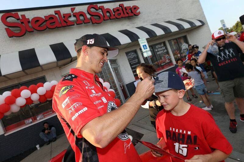 Meet and Eat with Graham Rahal at Steak 'n Shake!