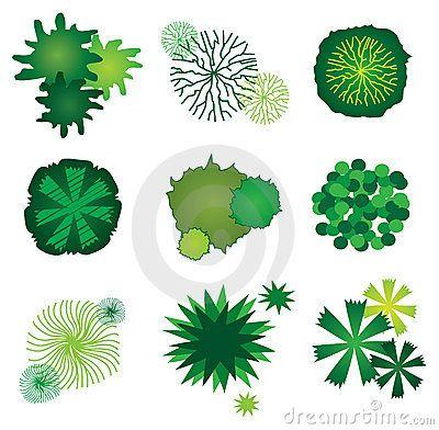 Set Of Tree Icons For Garden Plan Design Garden Planning Tree Plan Tree Icon