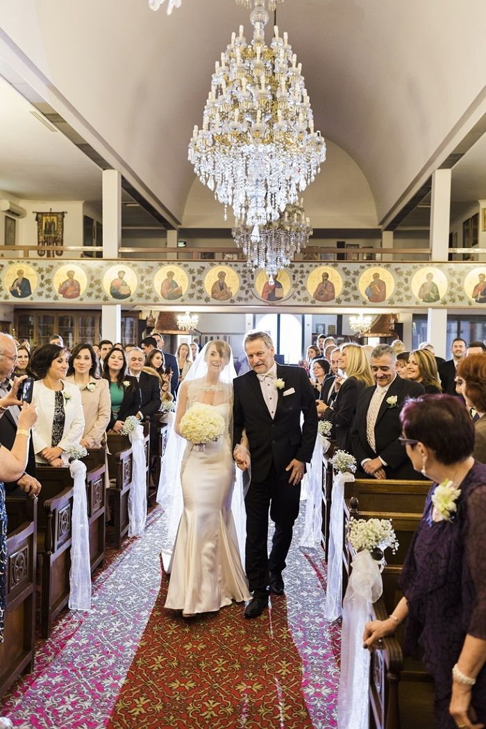 Here comes the bride for A Big Fat Greek Winter Wedding | I take you