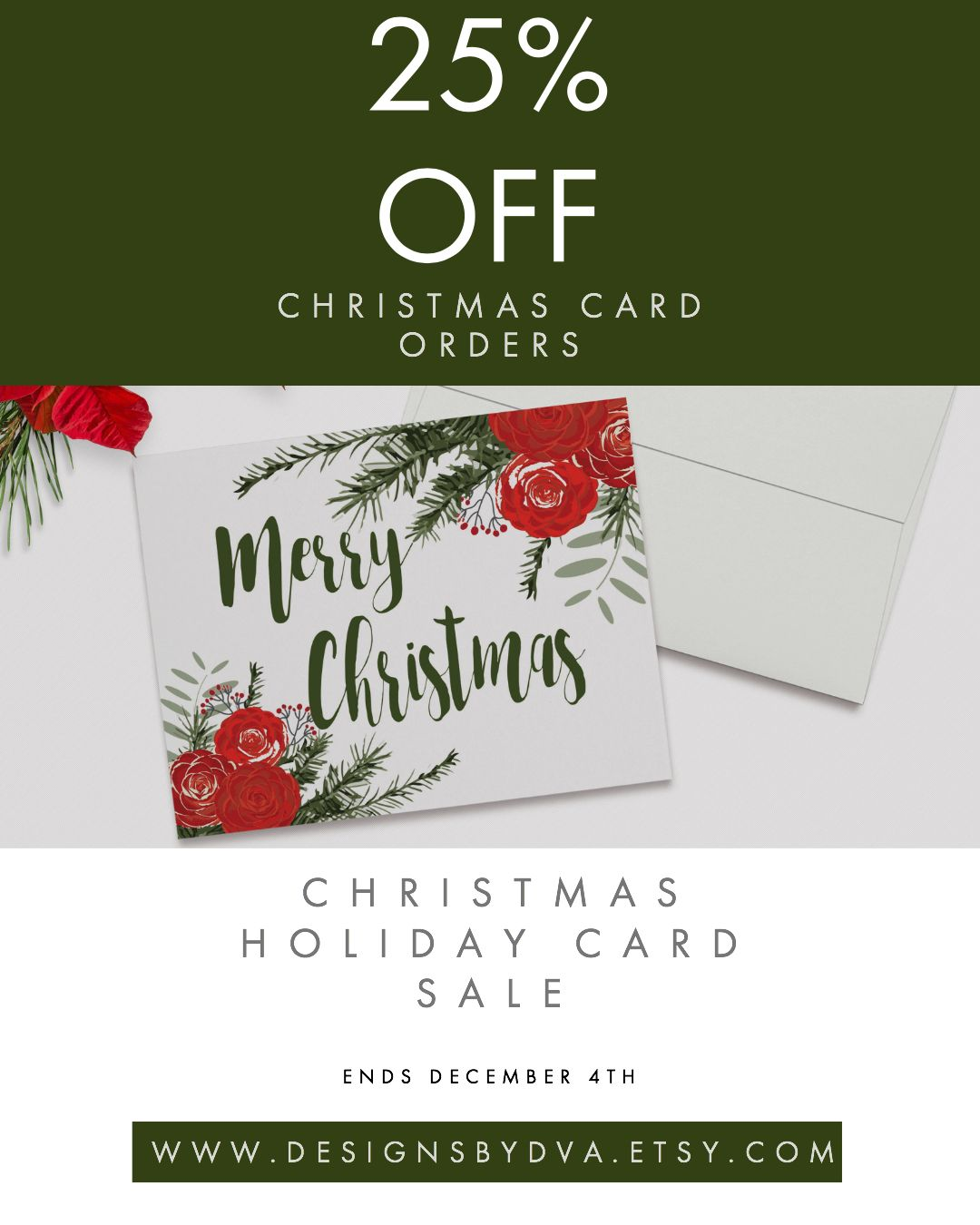 25 Off High Quality Christmas Cards At Designs By Dva Etsy Shop