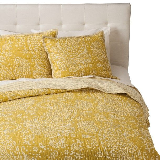 threshold™ gully paisley quilt - yellow | bedroom | pinterest