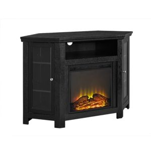 48 Classic Traditional Wood Corner Fireplace Media Tv Stand