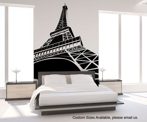 Vinyl Wall Decal Sticker Eiffel Tower Item OSMG Wall Decal - Wall decals eiffel tower