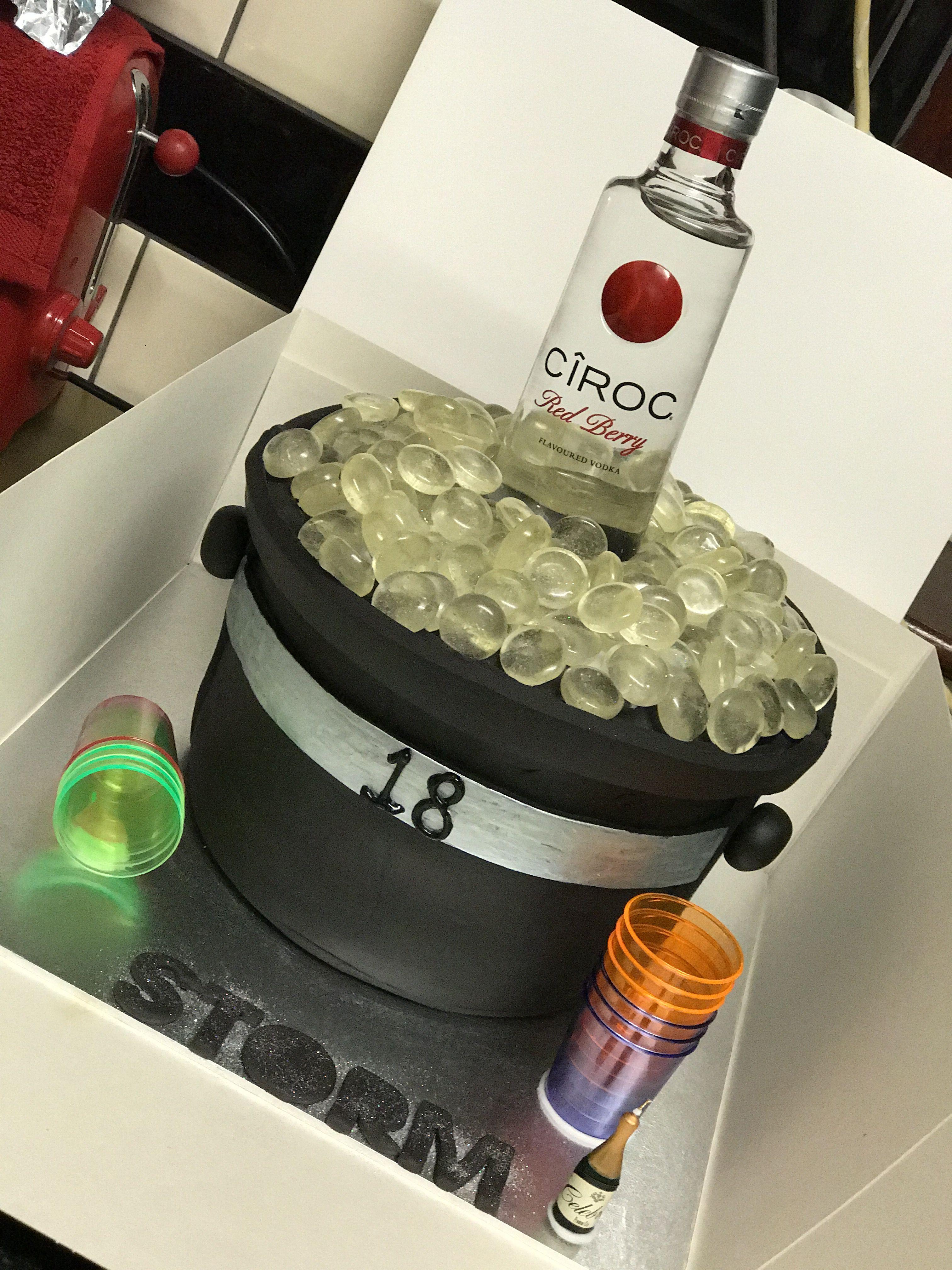 Fabulous Ciroc Cake In A Bucket Of Ice Cake Designs Birthday Cake Personalised Birthday Cards Veneteletsinfo