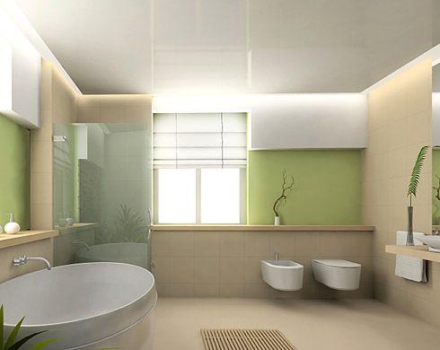 badezimmer idee im zen-stil mit kletterpflanzen | design, Badezimmer ideen