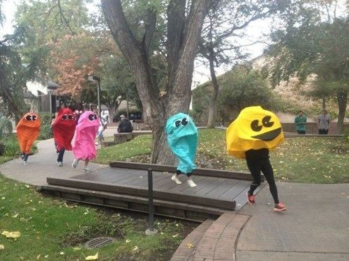 Um... @Caitlin Burton southworth  --- we need to do this. XD.    @MacKenzie Varble.  @Sarah Chintomby Day. @Clara McDonald.  @Thalia Wright.   I can see everybody doing this. Running through the streets like giant freaks lol.