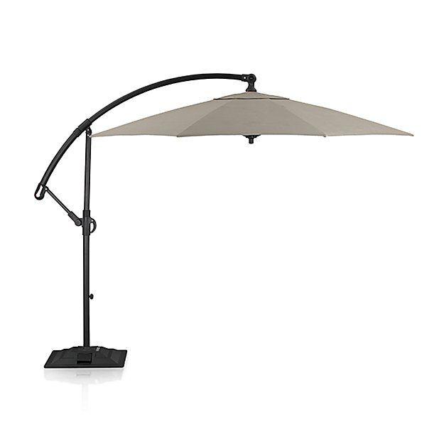 Stone Cantilever Patio Umbrella With