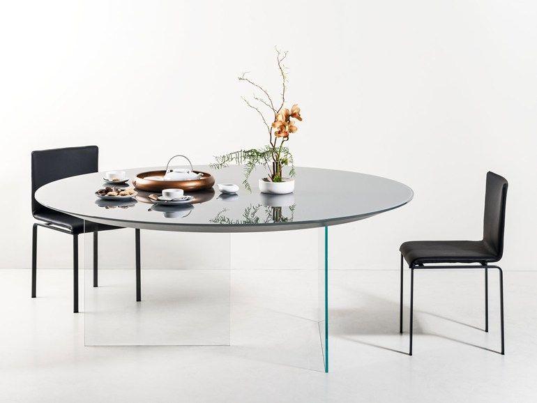 Lago tavolo ~ Round glass table air round table lago glass pinterest
