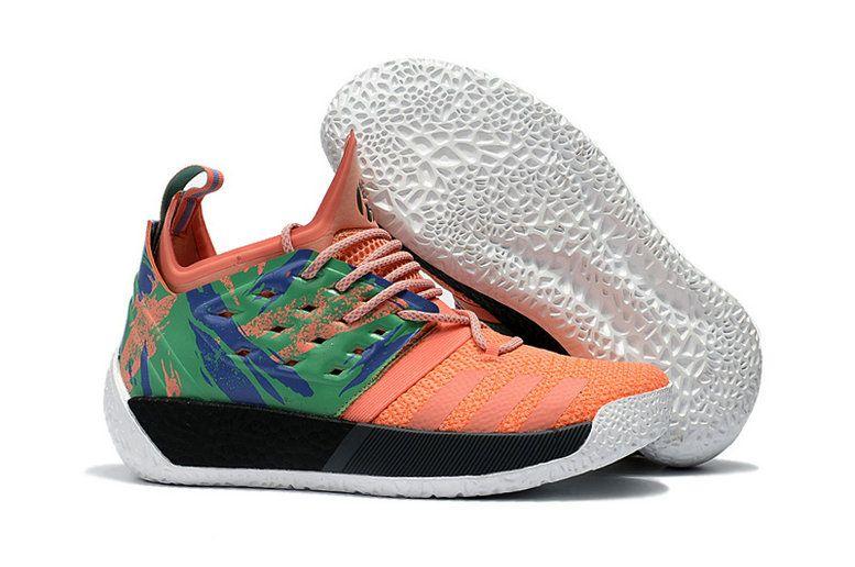 best cheap f0617 10194 Adidas Harden Vol 2 California Dreamin Melon Orange Black White James Men  Basketball AH2219