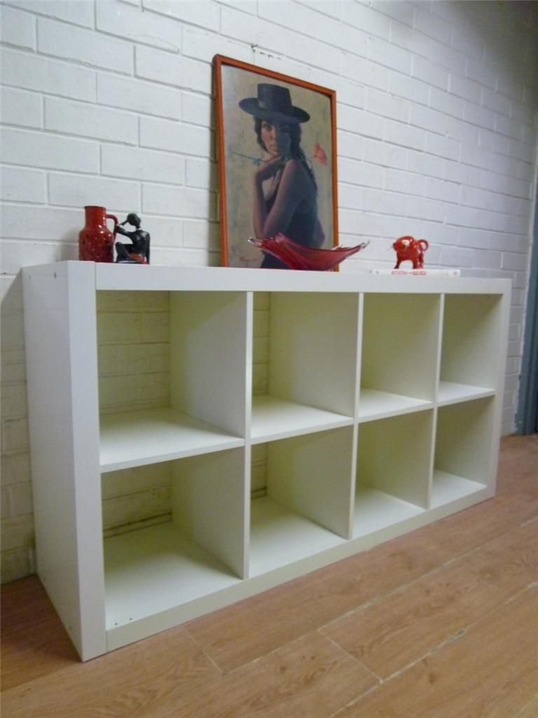 Mod Ikea Expedit Cube White Bookcase Display Shelf Cube Cabinet
