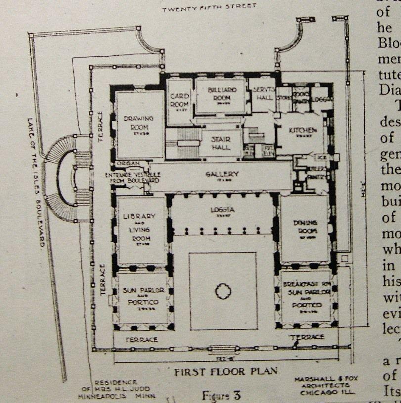 architecture plan gates mansion main level mpls mn