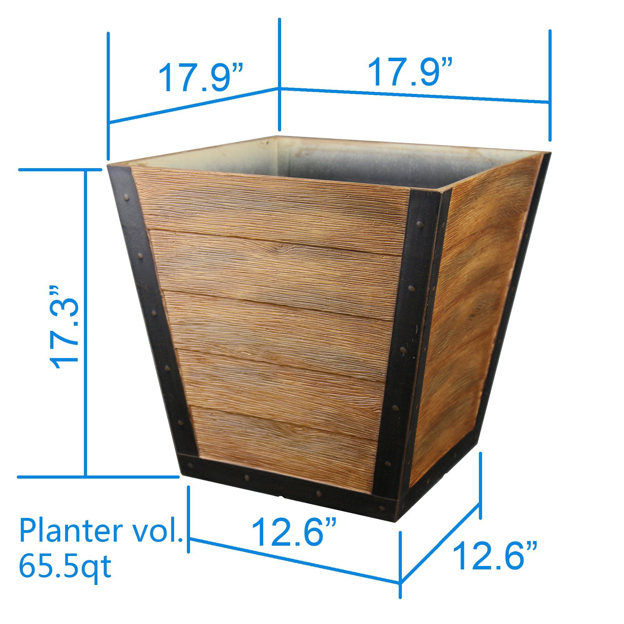 b299f2f9ffb93bce1ed7fde50d3949c6 - Better Homes And Gardens 18 Planter Brown