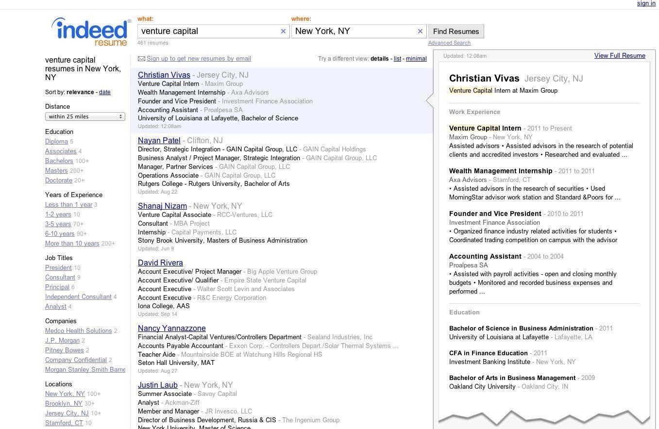 jobs jobs jobs Liebenswert Indeed Employer Resume Search