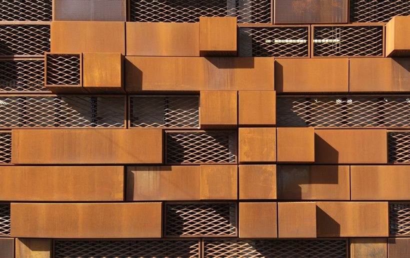 modern cor ten steel facade wall cladding corten steel. Black Bedroom Furniture Sets. Home Design Ideas
