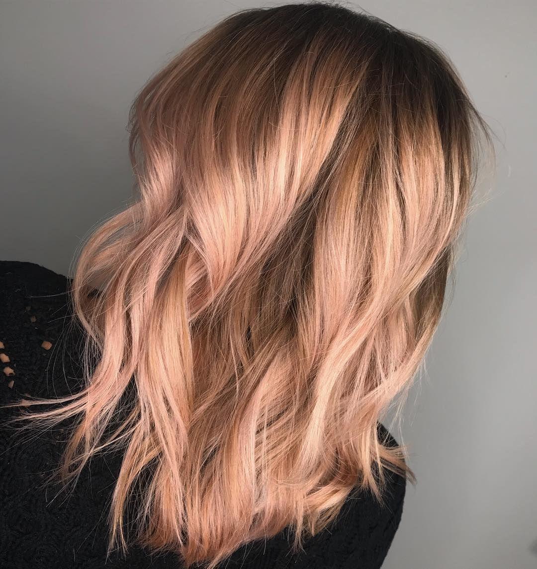 Rose Gold Hair Blonde Hair Blue Eyes Makeup Caring For Colored Hair Gold Hair
