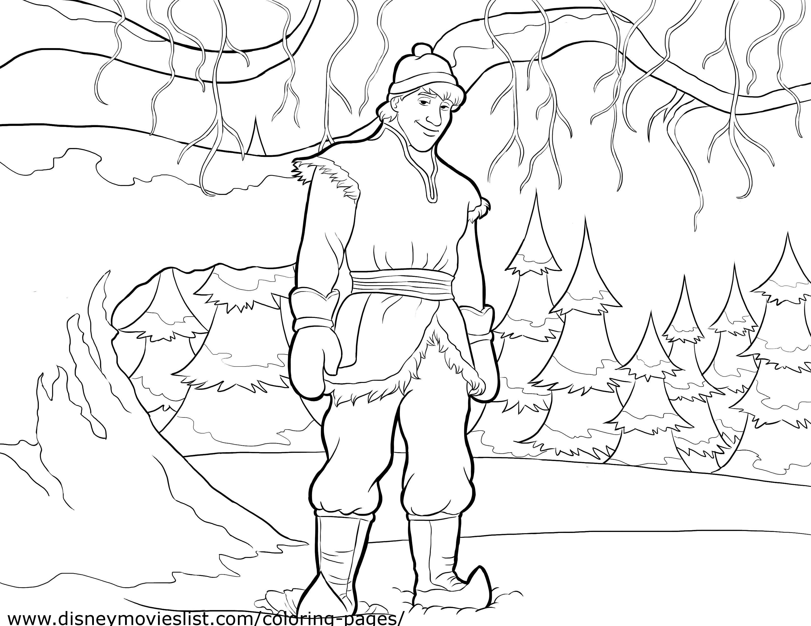 Disney\'s Frozen Kristoff Coloring Page Printable | Unfrozen ...