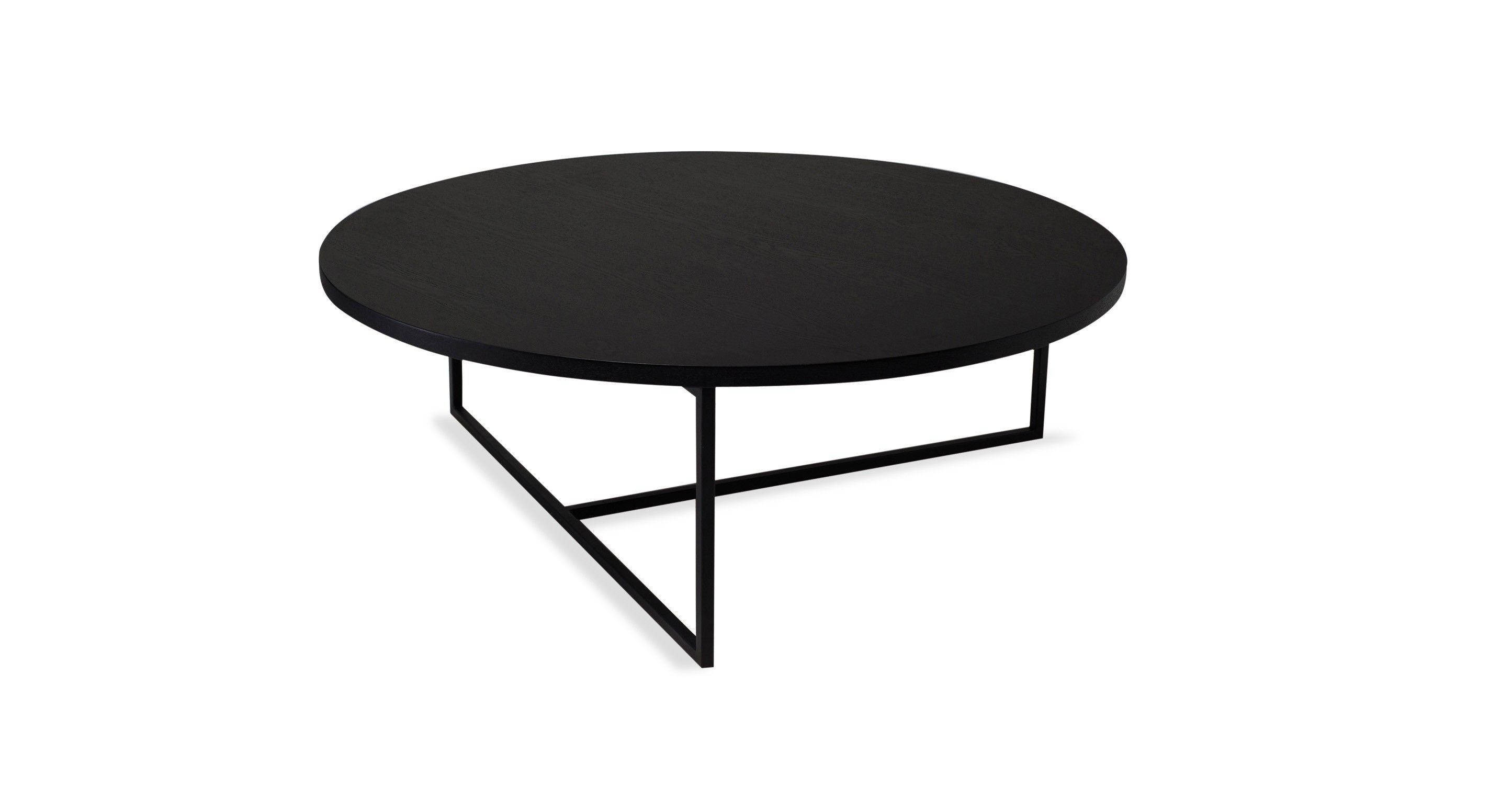 Turner Black Round Coffee Table Coffee Tables Bryght Modern Mid Century And Scand Coffee Table Round Coffee Table Modern Mid Century Modern Coffee Table