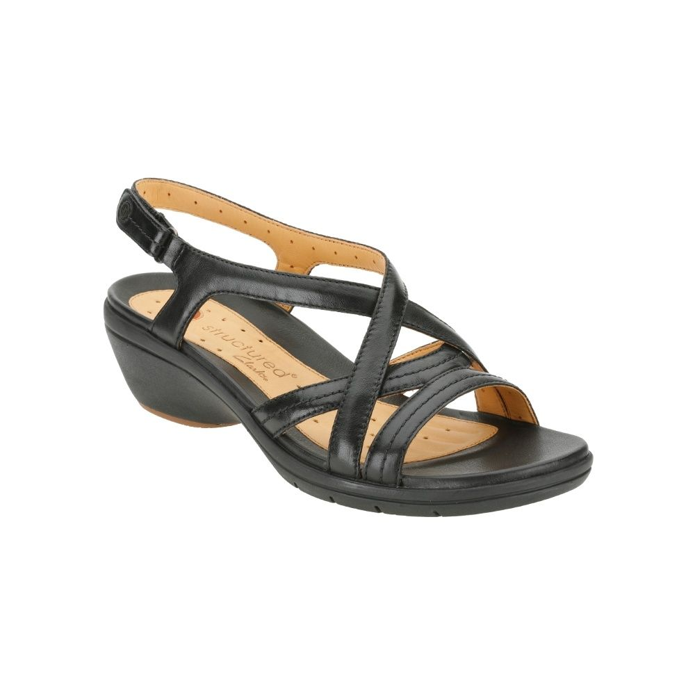 5c5e91b4a13 Clarks Un Spire Leather Sandals in 2019