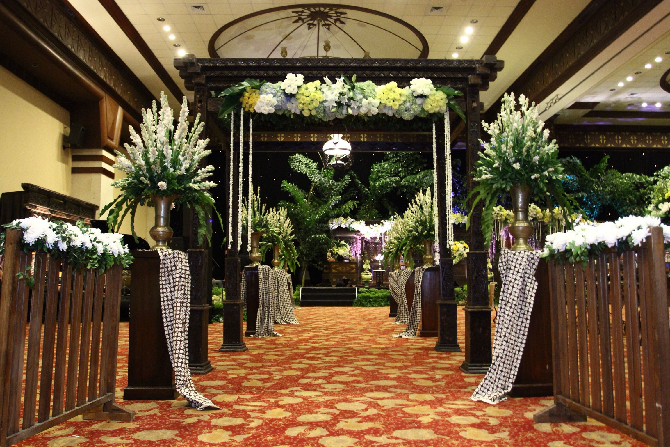 Javanese wedding decor ballroom entrance wedding inspiration javanese wedding decor ballroom entrance junglespirit Images