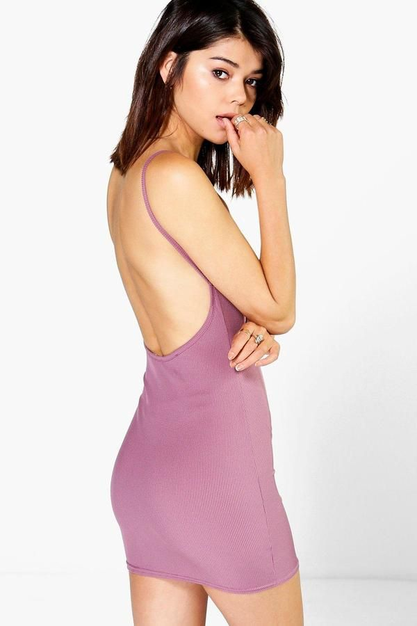 40e5c1f68ea39 #boohoo Plunge Neck Strappy Bodycon Dress - rose DZZ79914 #Get dance  floor-ready in an entrance-making evening dressLook knock…   Great Fashion  Clothes ...