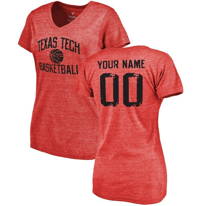 Texas Tech Red Raiders Women's Personalized Distressed