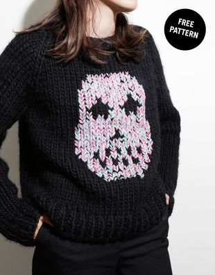 a76bb3bf0736 Free Sugar Skull Sweater Pattern