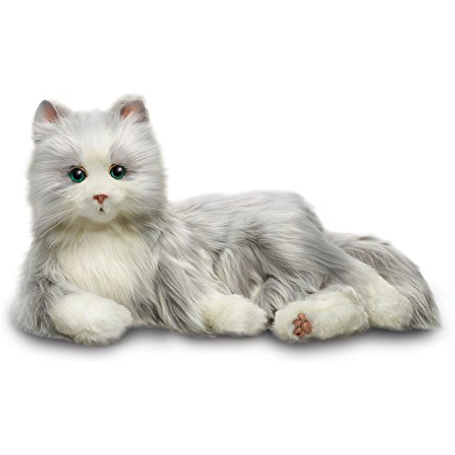 Joy For All Silver Cat With White Mitts You Can Find More Details By Visiting The Image Link This Is An Affili Orange Tabby Cats Cuddly Animals Tabby Cat