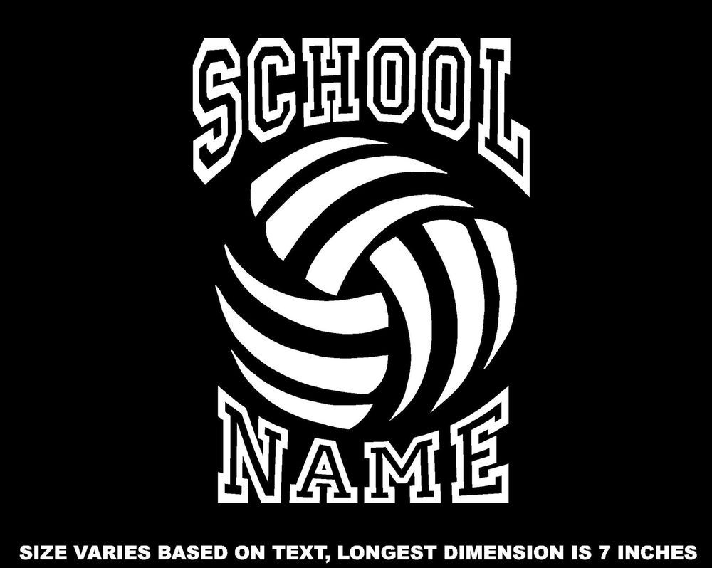 Personalized Volleyball Decal Window Sticker Car Wall Window Mirror V4 Window Stickers Volleyball Team Gifts Sports Decals [ 798 x 1000 Pixel ]