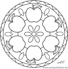 Apfel Mandala Jpg Apfel Mandala New Mandalas Para Ninos Pintura De Mandala Imagenes De Mandalas