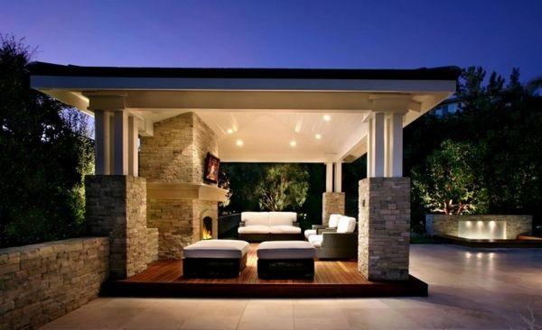 überdachte terrasse- moderne terrassengestaltung   Covered Patio ...