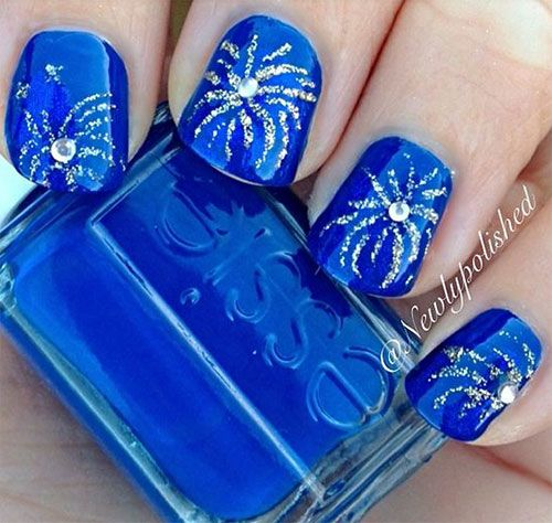 18-Awesome-4th-of-July-Fireworks-Nail-Art-Designs-2016-Fourth-of-July-Nails -8 - 18-Awesome-4th-of-July-Fireworks-Nail-Art-Designs-2016-Fourth-of