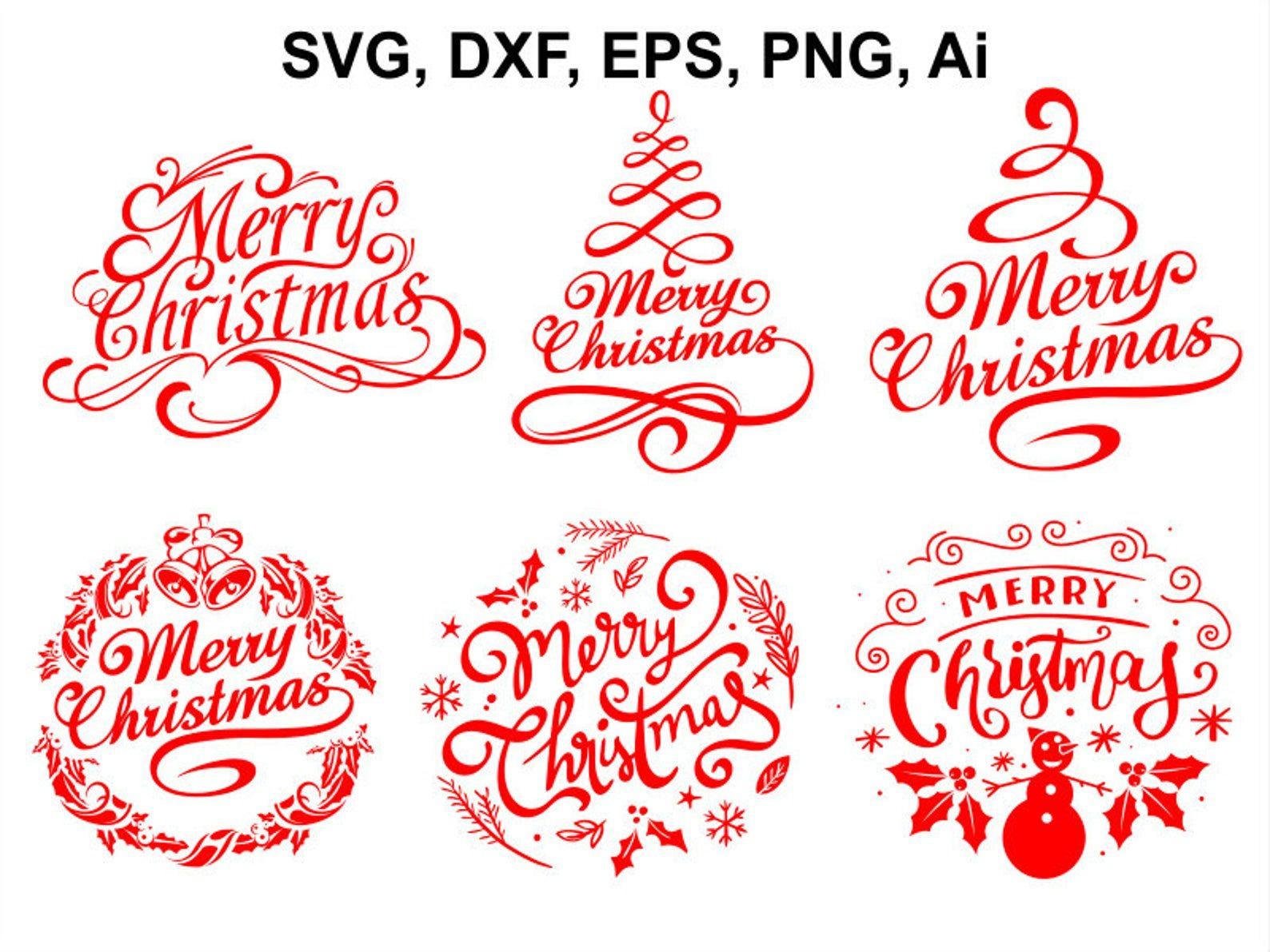 Merry Christmas SVG Kerstmis SVGbestand Kerstmis clipart
